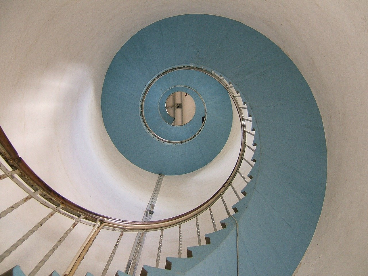 lighthouse, stairs, snail